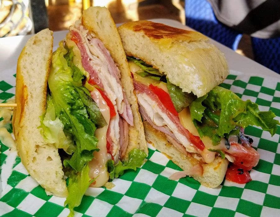 Sliced Salami, Ham, Turkey, Swiss Cheese, Roasted Red Peppers, Balsamic Vinaigrette & Fresh Greens served on a Ciabatta bun