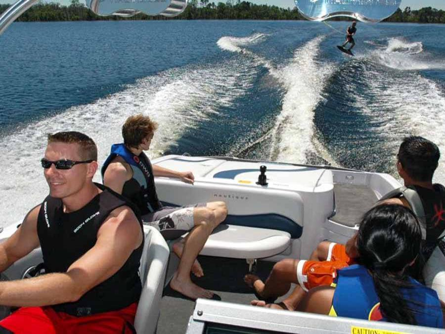 Freedom Boat Club Vero Beach Florida water skiing