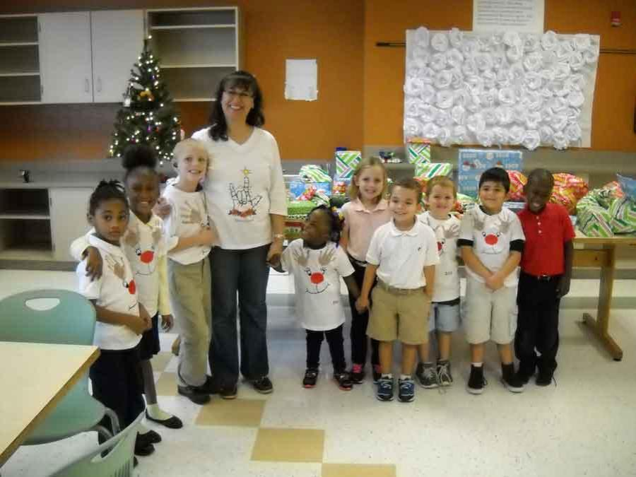 kids at Deaf & Hard of Hearing Services, Treasure Coast Christmas Party