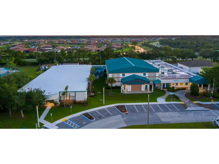 Aerial view of the Gifford Youth Achievement Center