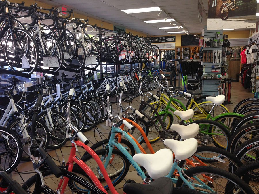 Rows of bicycles for sale