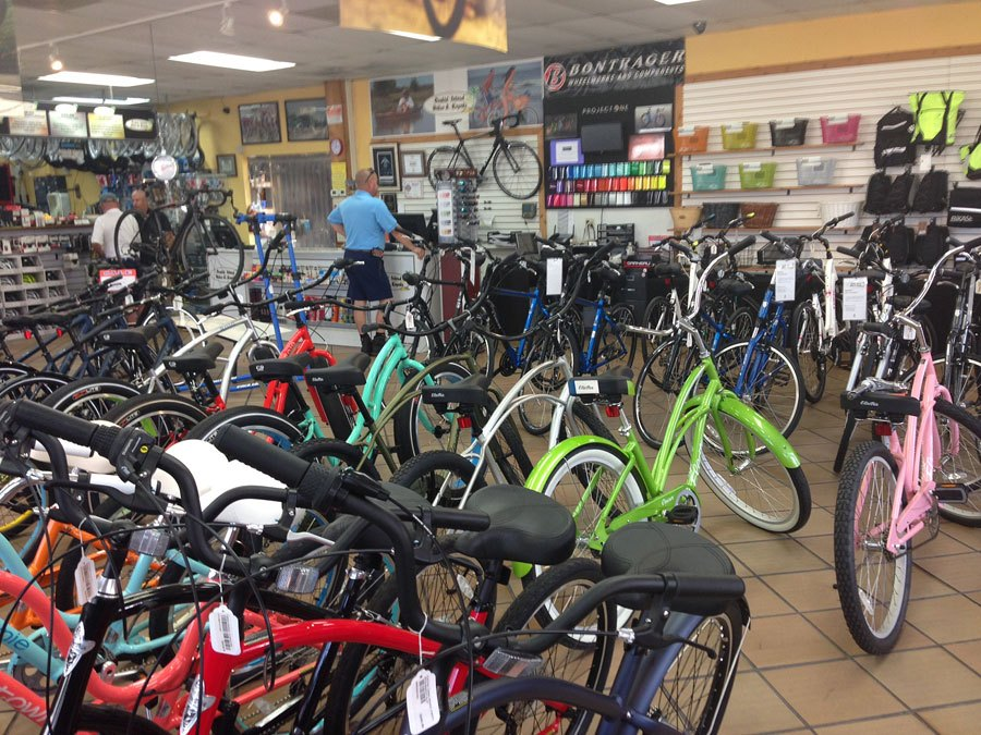 Bicycles on display