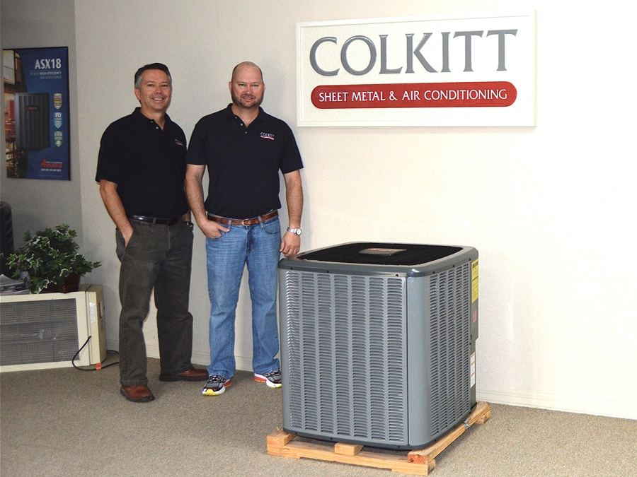 Chad and Joey Colkitt of Colkitt Sheet Metal and Air Conditioning Vero beach Florida