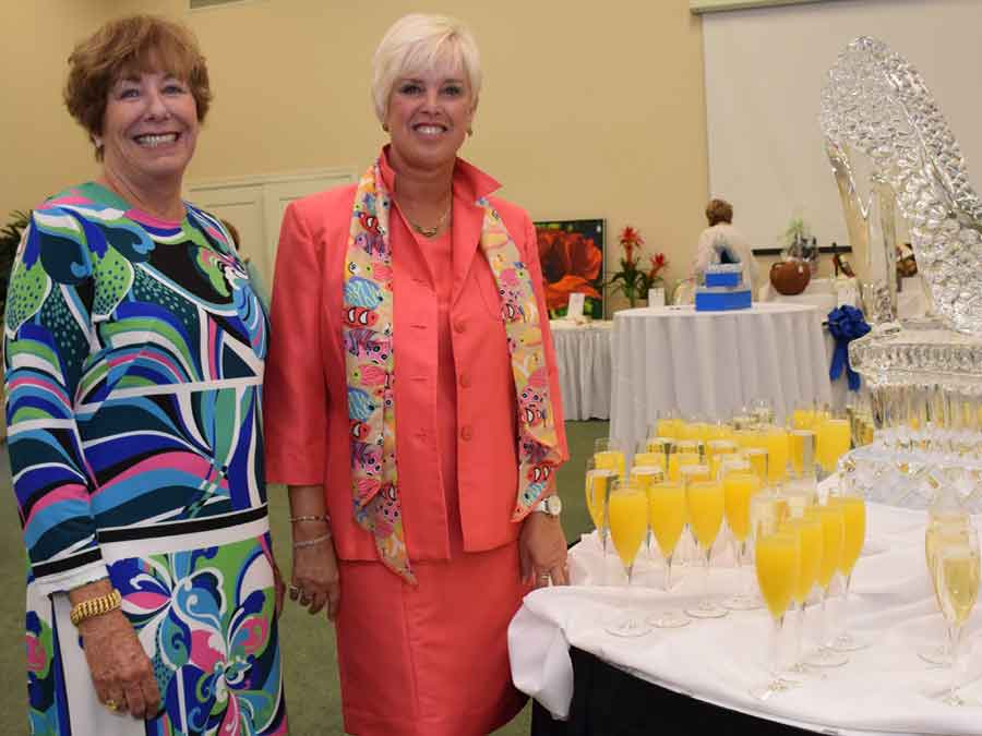 ladies hosting Blue Ribbon Luncheon