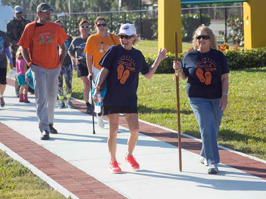 National Multiple Sclerosis Society walking in Orlando Florida
