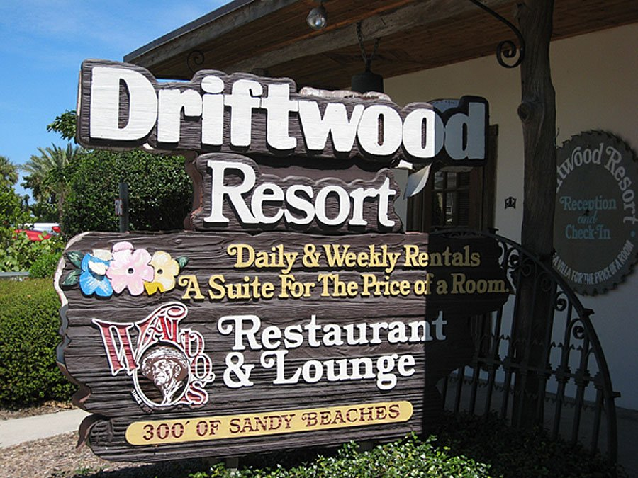 Driftwood Resort Vero Beach Florida sign out front