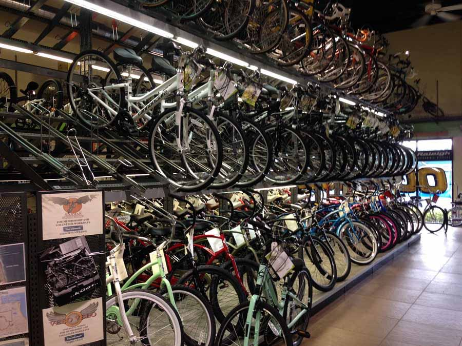 Alan's Bicycle Center bike rack Vero Beach Florida