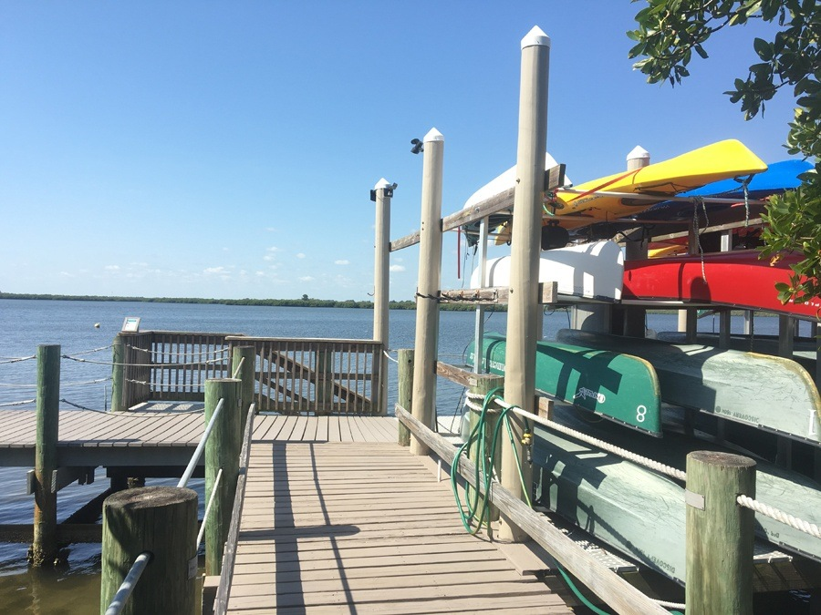 kayaks and canoes at the Environmental Learning Center Vero Beach Florida