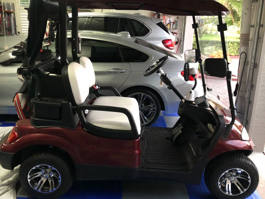 Golf Cart in garage