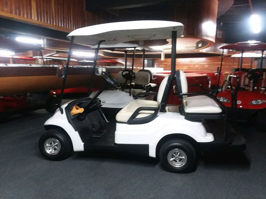 White Golf Cart