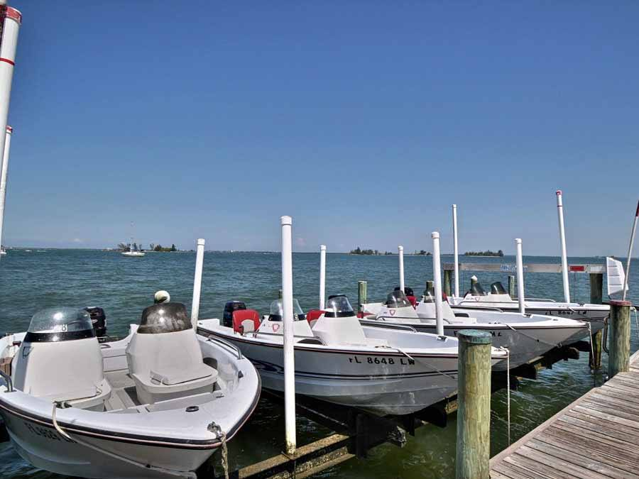 Boats for use at Oyster Point and Oyster Bay Resort Sebastian, Florida boats for rent