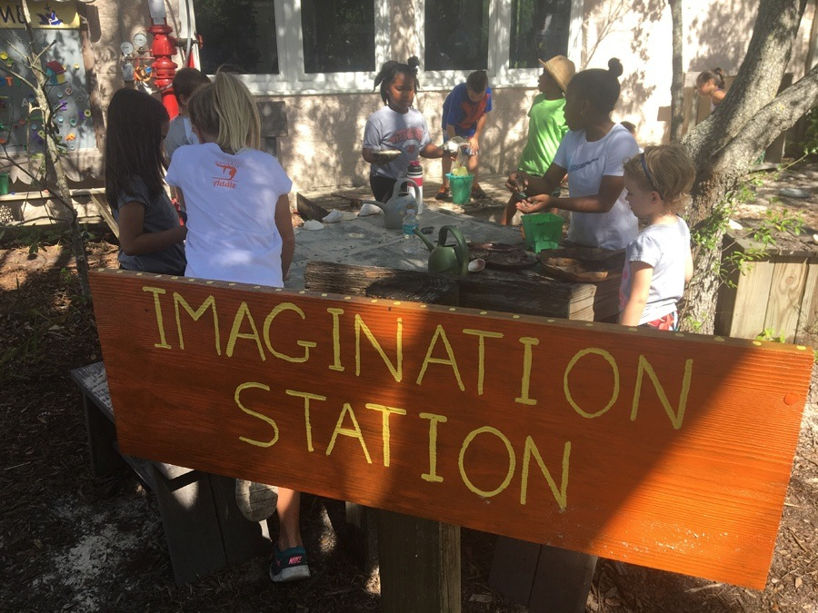 Kids at the Imagination Station Environmental Learning Center Vero Beach Florida