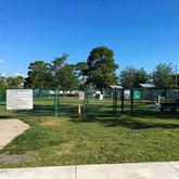 view of Sebastian Bark Park from outside fence Sebastian Florida
