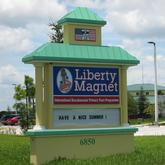 Liberty Magnet School Vero Beach Florida sign in front