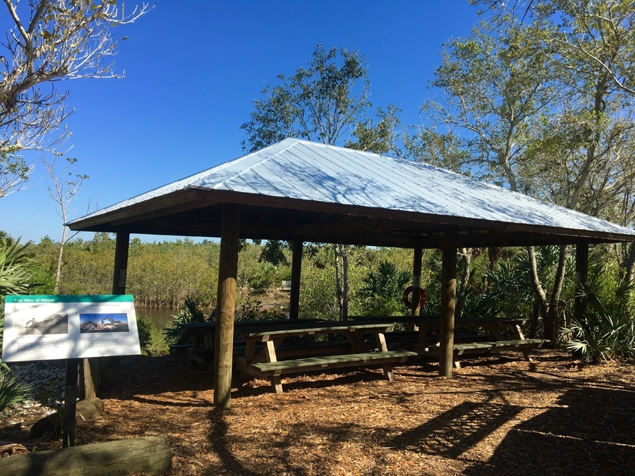 Covered resting area at Environmental Learning Center Vero Beach Florida