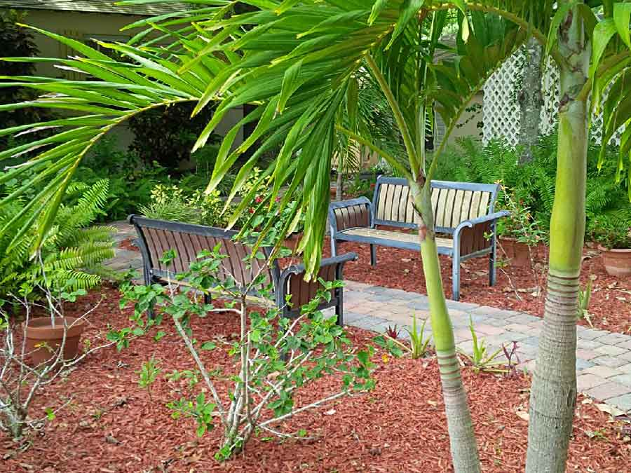Center for Spiritual Care Vero Beach Florida sitting area outside