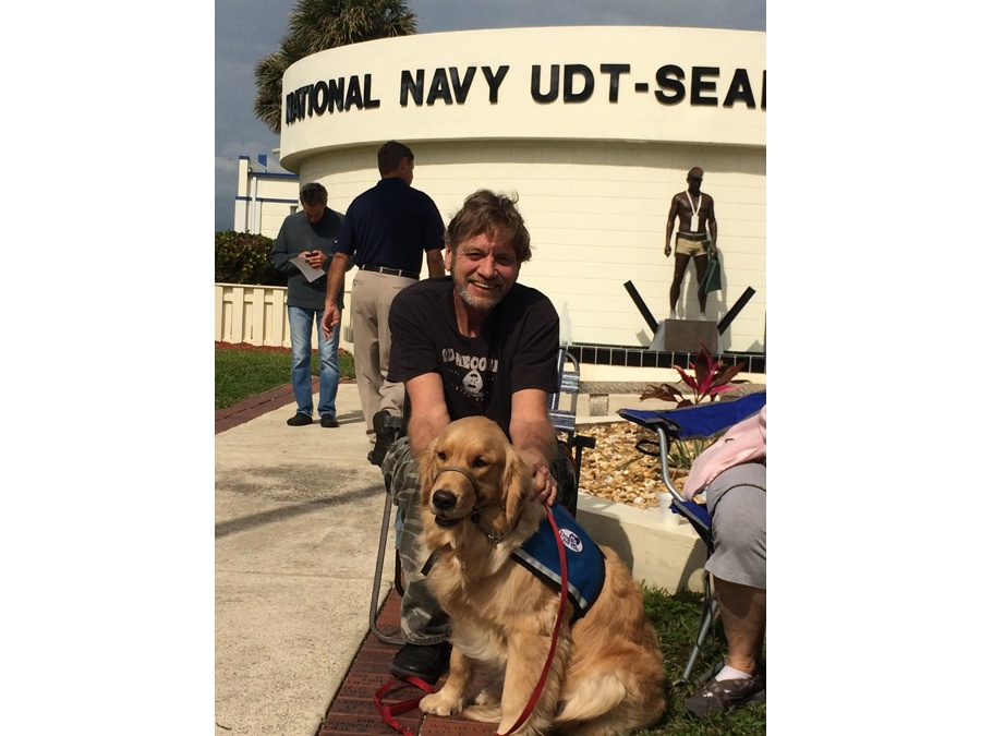 Dogs For Life, Inc. Vero Beach Florida dog and owner at Navy UDT Seal museum