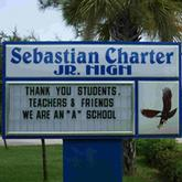 Sebastian Charter Junior High School sign