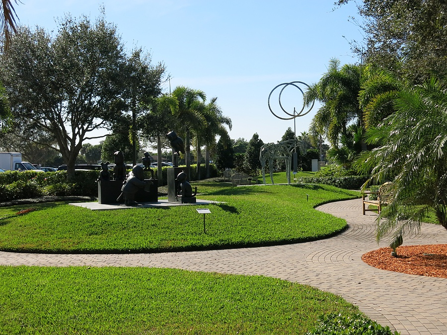 View of Vero Beach Art Museum sculpture garden