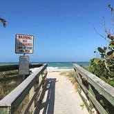View of Treasure Shores Beach Vero Beach Florida entrance to beach