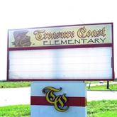 Treasure Coast Elementary School Vero Beach Florida sign