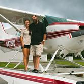 Mike and Sheena, owners of Treasure Coast Seaplanes
