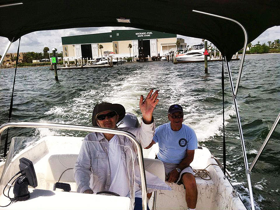 Freedom Boat Club Vero Beach, FLorida two men on a boat