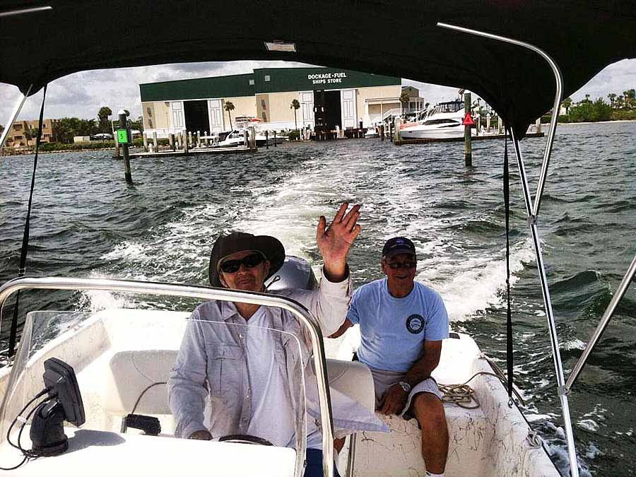 Freedom Boat Club Vero Beach Florida two men on a boat