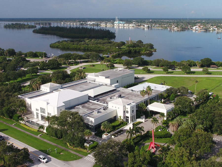 Aerial view of the Vero Beach Museum of Art Vero Beach Florida