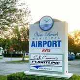 Sign in front of the Vero Beach Regional Airport Vero Beach Florida