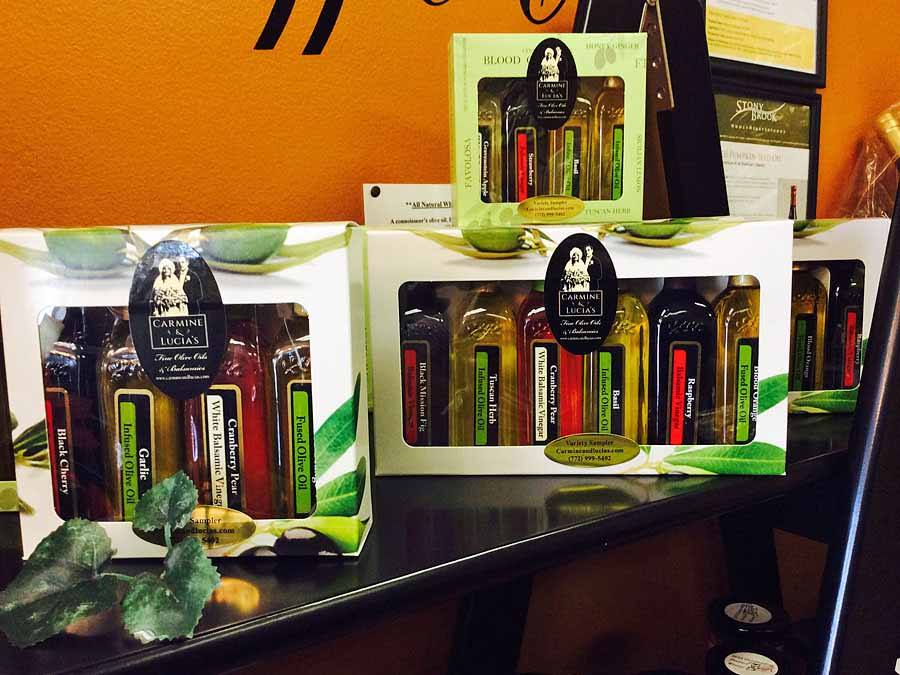 Carmine & Lucia's Olive Oils & Balsamics gift boxes