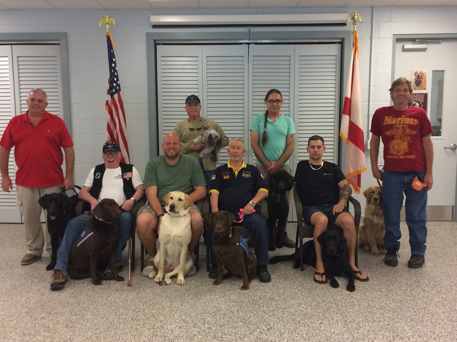 Dogs For Life, Inc. Vero Beach Florida Veterans and First Responders Graduating Class