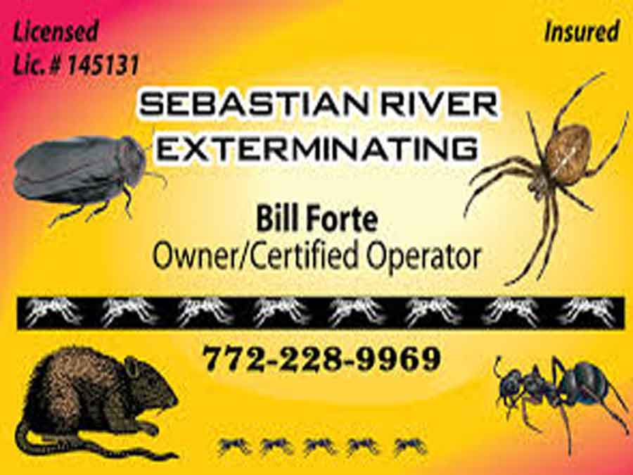 Sebastian River Exterminating sign