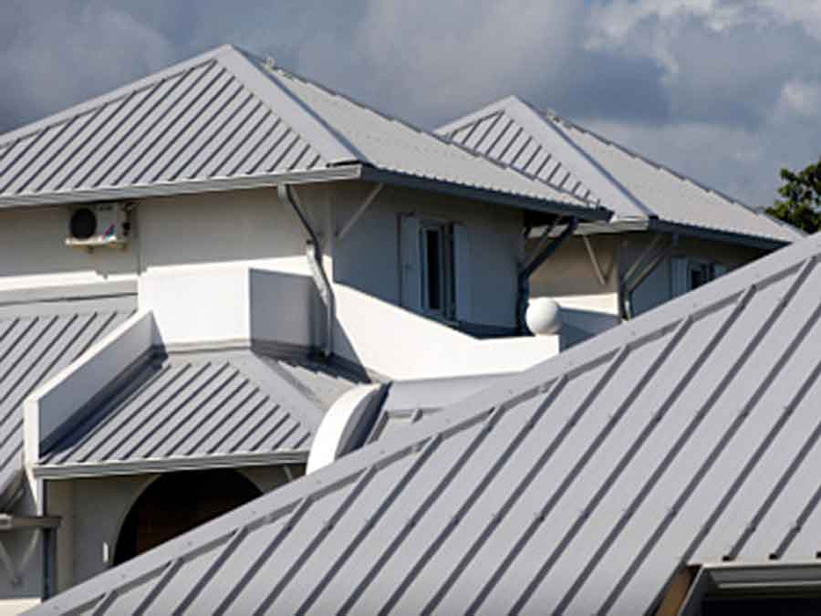 Grey metal roof