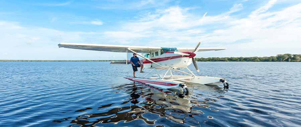 Landing on Blue Cypress Lake Vero Beach Florida
