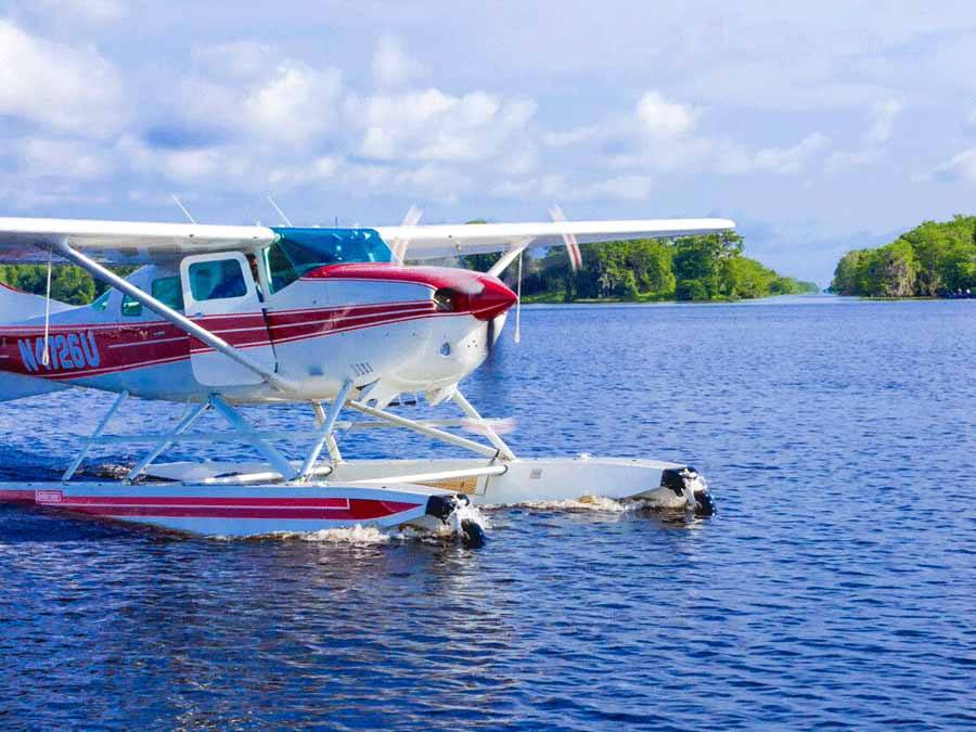 Seaplane at Blue Cypress Lake Vero Beach Florida