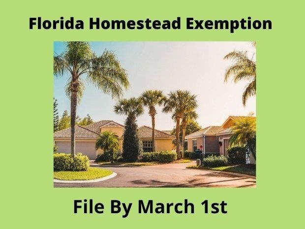 HOMESTEAD EXEMPTION  = An Awesome Property Tax Break for Florida Homeowners