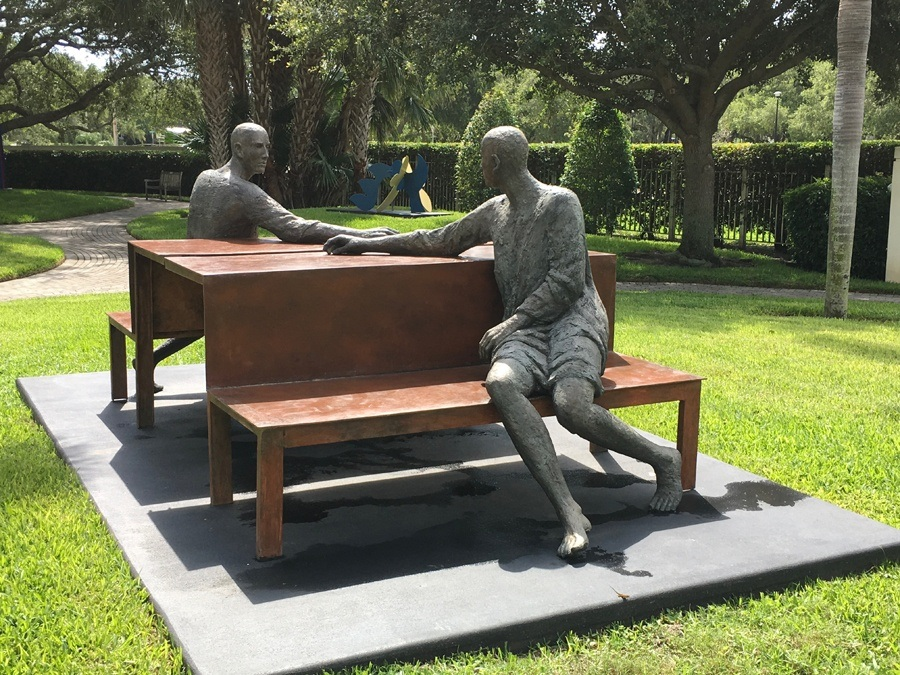 Sculpture in the sculpture garden of the Vero Beach Museum of Art Vero Beach Florida