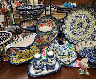Table grouping at Polish Pottery Outlet Melbourne Florida